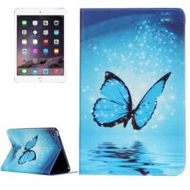 """Bescherm-Opberg Etui Hoesje Map voor iPad Mini 4 -  """"Vlinder"""""""
