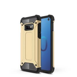 Samsung Galaxy S10e - Tough  Armor-Case Bescherm-Cover Hoes Skin - Goud