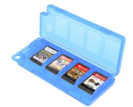 Spel Opberg-Box voor 8 Nintendo Switch + 2 SD Cards    Blauw