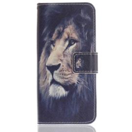 Luxe Boek Case - Bescherm-Etui  voor Samsung Galaxy S9 - Lion