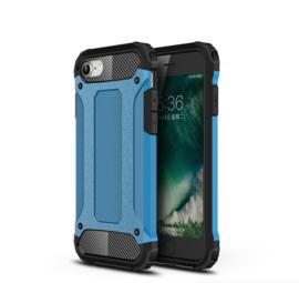 Hybrid Armor-Case Bescherm-Cover Hoes voor iPhone SE 2020. Blauw