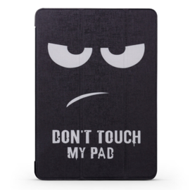 """Bescherm-Opberg Map Hoes voor iPad 9.7 PRO - A1673  -  """"Don't Touch my Pad"""""""