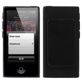 iPod Nano 7 - TPU Bescherm Hoes-Skin  met Clip! -  Zwart