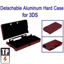 Aluminium Bescherm-Cover Skin voor Nintendo 3DS   Rood