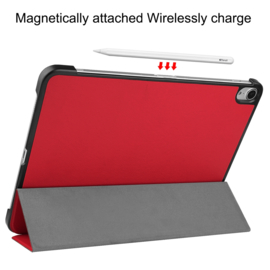 Slim Smart Cover Hoes Map voor iPad Air - 10.9 -  Rood. A2316