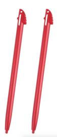 2x Stylus pen voor Nintendo 3DS XL.  Rood