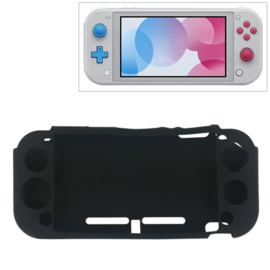 Silicone Bescherm Hoes voor Nintendo Switch Lite - Zwart