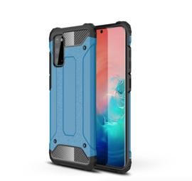 Samsung Galaxy S20 - Hybrid  Armor-Case Bescherm-Cover Hoes - Blauw