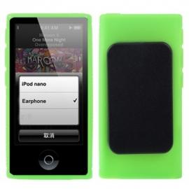 iPod Nano 7 - TPU Bescherm Hoes-Skin met Clip -  Groen