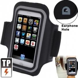 Armband / Sport Case voor iPhone 5 - 5S   Zwart-Grijs