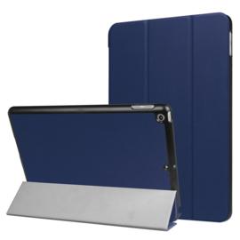 iPad 9.7 -  Bescherm-Cover Hoes Map met Smart Cover  Blauw
