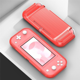 TPU Bescherm Hoes Skin voor Nintendo Switch Lite - Rood-Carbon