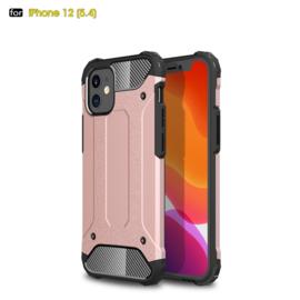 Sterke Armor-Case Bescherm-Cover Hoes voor iPhone 12 Mini -  Roze