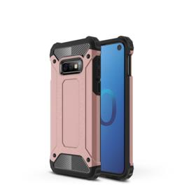 Samsung Galaxy S10e - Tough  Armor-Case Bescherm-Cover Hoes Skin - Roze