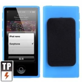 iPod Nano 7 - TPU Bescherm Hoes-Skin met Clip! -  Blauw