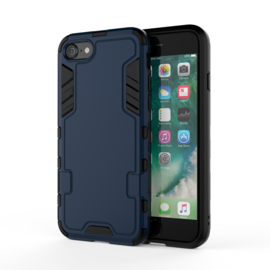 iPhone 7 of 8 -  Flex Armor-Case Bescherm-Cover Hoes Blauw