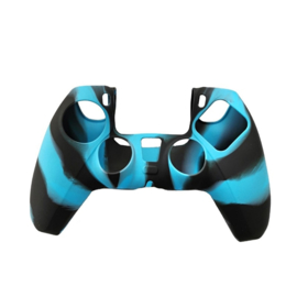 Silicone Hoes / Skin voor Playstation 5 - PS5 Controller   Blauw  Zwart
