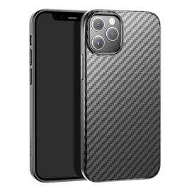 Slim Carbon  Bescherm-Hoes  voor iPhone 12 - 12 Pro       Zwart