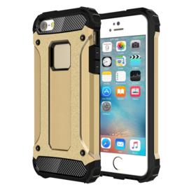 iPhone SE  -  Extra Strong Armor-Case Bescherm-Hoes Skin  Goud