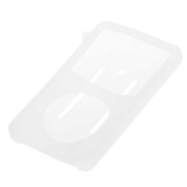 Silicone Bescherm-Hoes Skin voor iPod Classic   10,5mm  Transparant-Wit