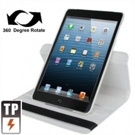 360º PU Bescherm-Map Hoes Etui voor iPad Mini 1 - 2 - 3  Wit