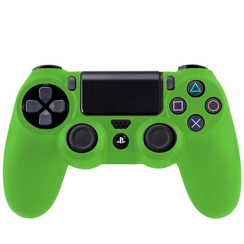 Silicone Hoes / Skin voor Playstation 4 PS4 Controller    Groen