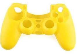 Silicone Hoes / Skin voor Playstation 4 PS4 Controller   Geel