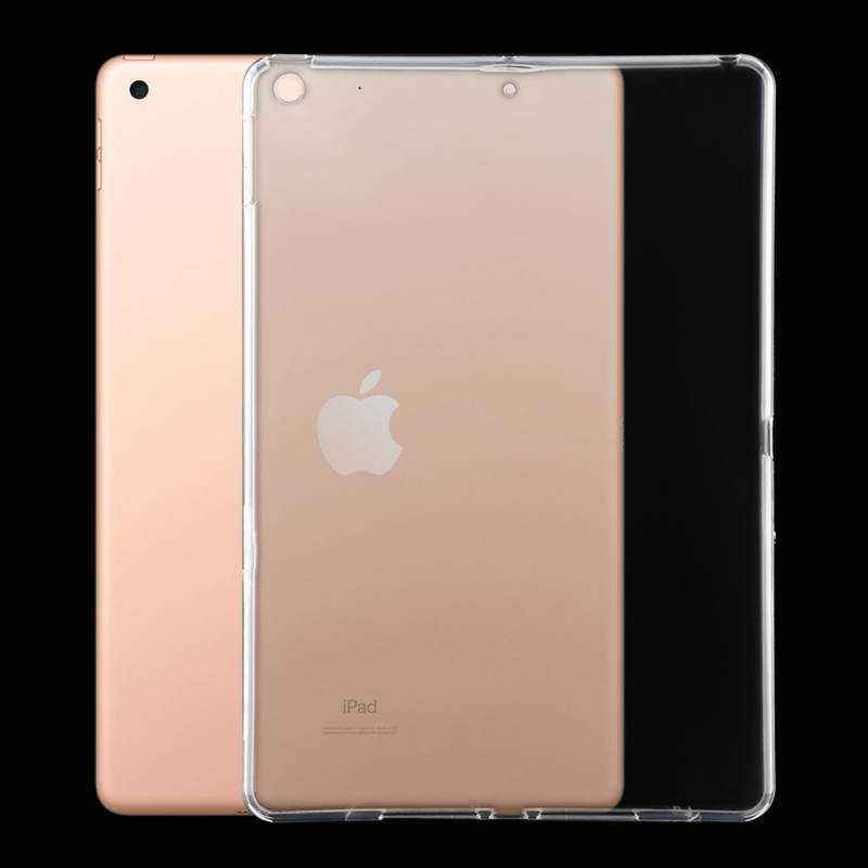 iPad 10.2 - 2019 - TPU Flex Bescherm- Hoes Cover Skin - Transparant.   A2197 - A2198
