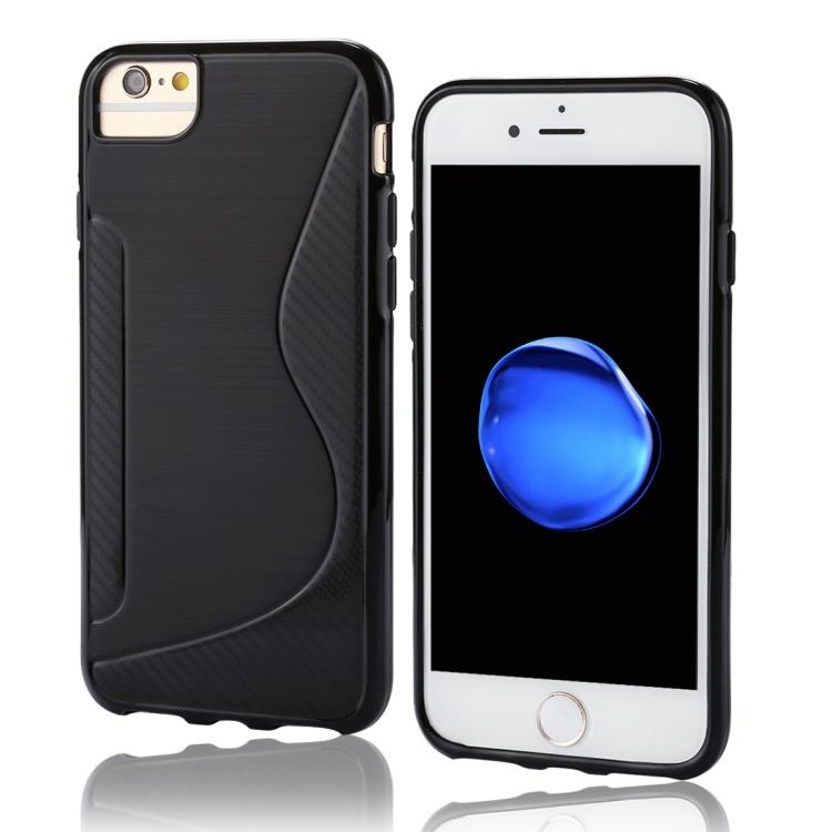 iPhone 7 - TPU S-Line Bescherm-Hoes Skin - Zwart