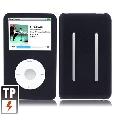 Silicone Bescherm-Hoes Skin voor iPod Classic   10,5mm Zwart