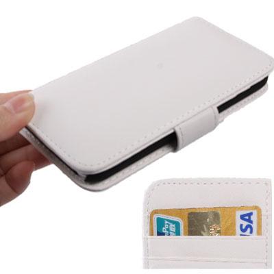 Boek Bescherm-Etui voor iPod Touch 5G 6G 7G  Met Bankpashouder Wit