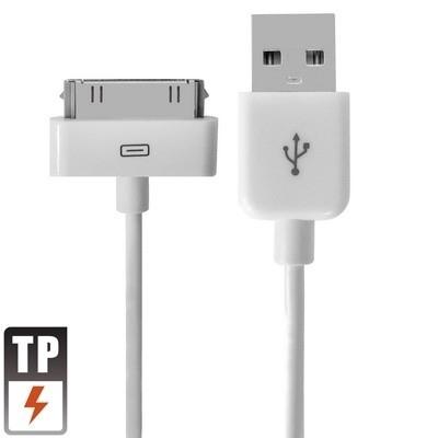 USB 2.0 Data en oplaad Kabel voor Apple iPad  2m.   Wit