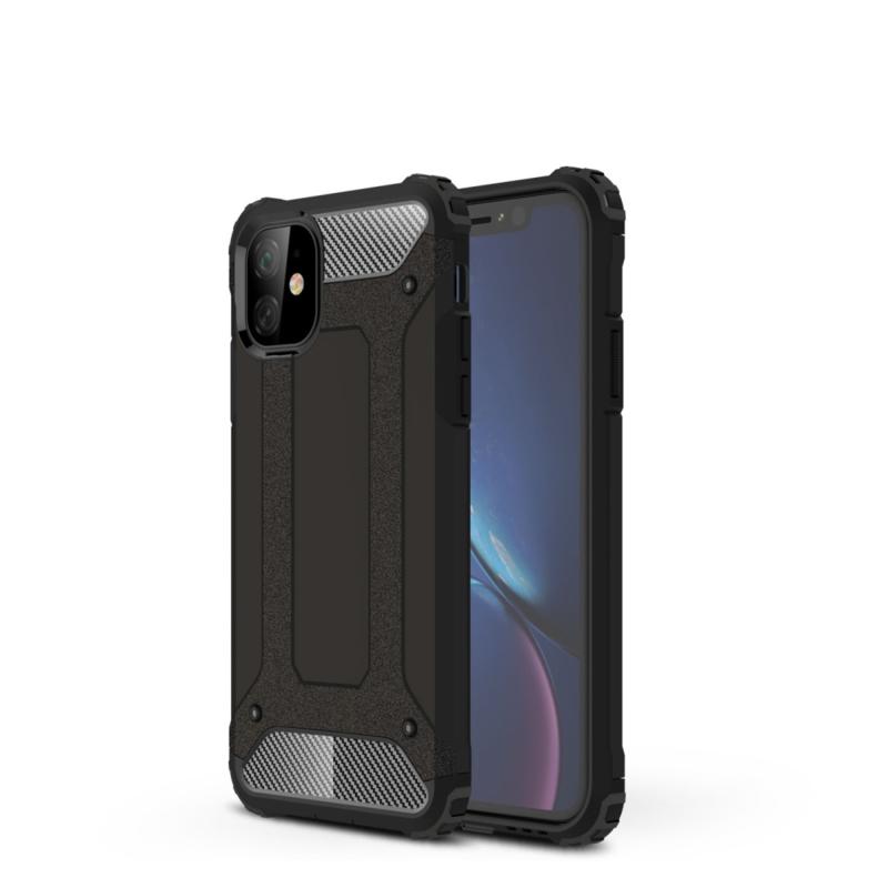 iPhone 11  - Hybrid Tough Armor-Case Bescherm-Cover Hoes - Zwart