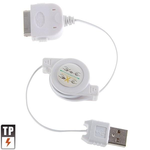 Inrolbare USB Kabel voor iPod  Wit