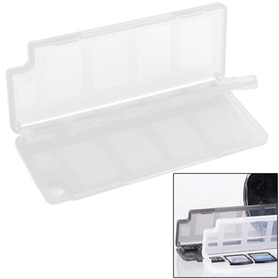 Spel-Box voor 8 PlayStation PS Vita Game-Cards + 2 Micro SD slots Wit