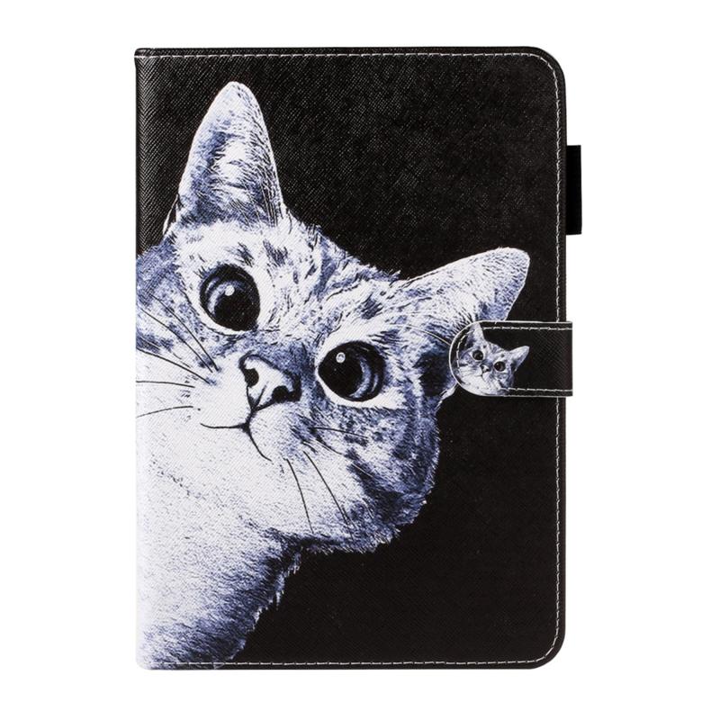 """Luxe Bescherm-Etui Map voor Samsung Galaxy Tab A 10.1  2019 - """"Curious Cat"""""""