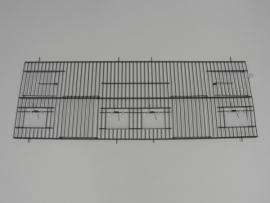 21440-130,0 x 80,0 CM 2 deuren, 4 klepgaten en 2 draaideuren ZWART