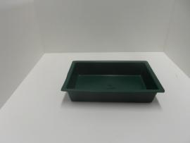 8152Plastic volièrebak groen 30 x 20cm