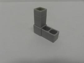 8516Verbindingshoek 2 pins grijs