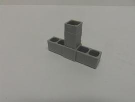 8515Verbindingshoek 3 pins recht grijs