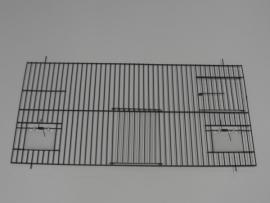 21240-130,0 x 60,0 CM 1 deur, 2 klepgaten en 1 draaideur ZWART