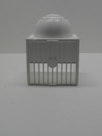 7526Voorhangnest plastic wit met vast nestje