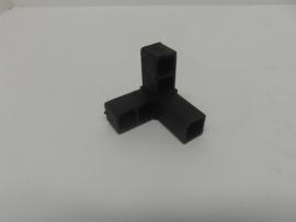 8508Verbindingshoek 3 pins haak zwart