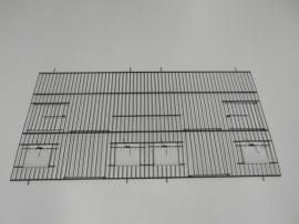 22040-140,0 x 80,0 CM 2 deuren, 4 klepgaten en 2 draaideuren ZWART