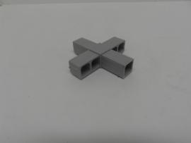 8513Verbindingshoek 4 pins recht grijs