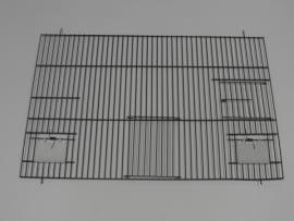 21840-140,0 x 50,0 CM 1 deur, 2 klepgaten en 1 draaideur ZWART