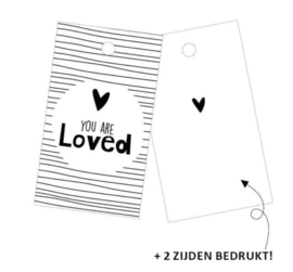 Cadeaulabel | you are loved (per 5)
