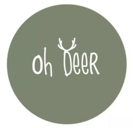 Muurcirkel oh deer olijfgroen 30cm