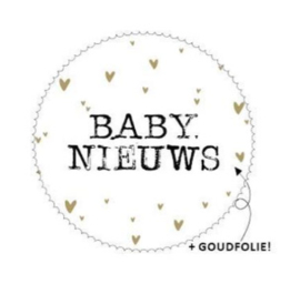 """Sticker """"Baby Nieuws"""" 44mm"""