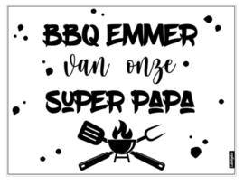 DIY | sticker wit bbq emmer (ook voor opa)